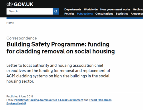 UK Government annouces 400 million fund to replace unsafe ACM cladding